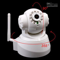 Wholesale 2pc web camera Nightvision IR Webcam Web CCTV Camera WiFi Wireless IP Camera wifi ip camera K from monna