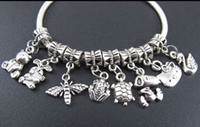 Charms animal beads wholesale - MIC Mix Animal Tibetan Silver Dangle Beads Fit Charm Bracelet Jewelry DIY