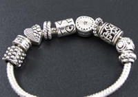 Alloy Chains  MIC 100p Mix Tibetan Silver Spacer Beads Fit Charm Bracelet Jewelry DIY 13020725