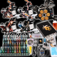 Wholesale USA Storage Professional Gun Tattoo Kit Complete with Inks sets Power Supply Needle Grips tips D179