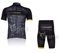 livestrong - 2013 NEW Hot LIVESTRONG Black Short Sleeve Cycling Jerseys Set Cycling Wear Clothing Shorts CJ0035