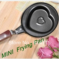 stainless steel ECO Friendly  DHL free shipping MINI Fried egg fry prying pan Heart-shaped flat pan Stainless steel 100pcs lot