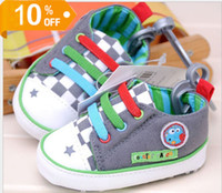 Wholesale 8pairs children spring boy cute baby canvas toddler shoes baby shoes dandys