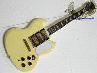 Solid Body 6 Strings Mahogany TOP quality Best new arrival SG Electric Guitar in Yellow Three pieces of pick-up custom guitar