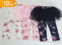 Wholesale Baby Girl Skirt Legging Short Summer Floral Print Cotton Skinny Pant Lace TuTu Skirts