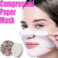 Wholesale Pack of Skin Face Care DIY Clean Facial Cotton Paper Tablets Compress Masque Mask