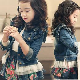 Wholesale Spring Baby Girl s Tutu Jean Jacket Children Long Sleeve Cotton Tutu Dress Outwear Kids Clothes