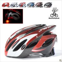 Wholesale Helmet riding helmet bicycle helmet ultralight one piece with a warning light road mountain bike acc