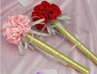 Wholesale Carnation flower Wedding ink Golden sign in pen Wedding Reception Guest Sign In Bridal Shower Party