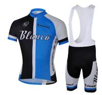 Wholesale 2013 HOT NEW Blanco Short Sleeve Cycling Jerseys Set Cycling Wear Clothing BIB Shorts CB027