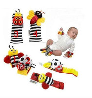 Wholesale China Post New Lamaze Garden Bug Wrist Rattle Foot Finder Ladybug Bee Plush toy toddle