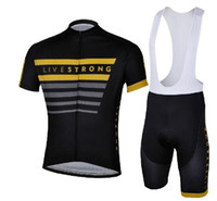 Wholesale 2013 HOT LIVESTRONG Black Short Sleeve Cycling Jerseys Set Cycling Wear Clothing BIB Shorts CB049
