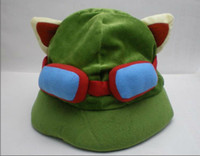 Wholesale Hot game League of Legends cosplay cap Hat Teemo hat Plush Cotton LOL plush toys Hats F