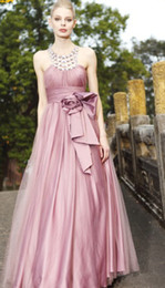 Wholesale Retro vintage Bling Lavenser Lilac Halter A line Anke Length Beads Bows Quinceanera Dresses