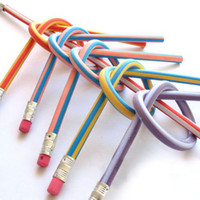 bendable pencils - Low Price cm bendable flexible soft fun pencil with eraser toys gifts prize kids school pc