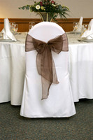 Wholesale 100 pieces brown organza chair sashes