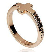 Wholesale Forever Golden Cross wedding Ring cheap Engagement Eternity Men Women Fashion Jewelry finger Ring
