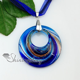 round glitter swirled pattern murano glass pendant mruano glass jewelry Fashion necklaces handmade fashion jewelry Mup175