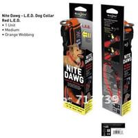 Wholesale 50pcs NITE IZE Orange Flashing Light pet collars Harness cat leash rope Dog harness led flashing pet collars medium cm cm