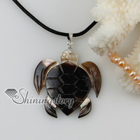 Pendant Necklaces turtle pendant - sea turtle patchwork shells necklace sea shells jewelry shell jewelry Mop80097 high fashion jewelry