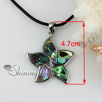 shell estrella colgante de collar de concha de perla de la joyería de moda de joyería Mop80104 barata bisutería china