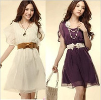 Modern apricot cake - Sell Like Hot Cakes Summer Dress New Chiffon Dress White Apricot Pink Purple tk0298