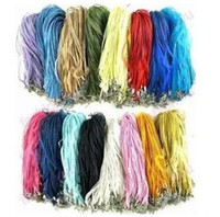 Wholesale MIC Mix Color Organza Voile Ribbon Necklaces quot Chains Jewelry DIY