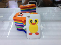 Wholesale 3D Cute Penguin Cartoon Silicone Soft Case for Apple Ipod TOUCH Ipod touch