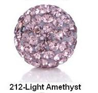 Wholesale 33pcs MM Light Amethyst Style Crystal Beads Pave Disco Ball For Bracelets Jewelry DIY