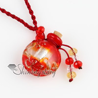 Wholesale round diffuser pendant essential oil diffuser necklace Hand made jewelry Mun025 handmade fashion jewellery