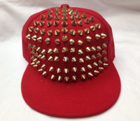 Wholesale Rivets Rivet caps Popular hip hop hat Fashion hat flat cap Navy hat Baseball cap sun hats caps
