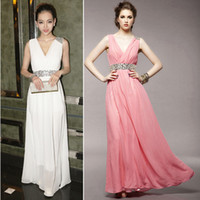 Wholesale V Nack Zip up back Bridal gown wedding dress evening long dress Long tail section dress