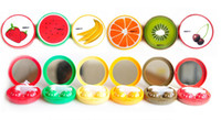 Wholesale Fruit Invisible glasses box Contact Mirror Lens Eyewear Cases cm