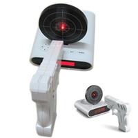 Wholesale Unique quot LCD Laser Gun Target Shooting Alarm desk Clock Set
