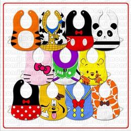 Wholesale Lowest Price Baby leopard Bibs slaver towels pinnies baby dribble towels pinny Toddler feeding bibs
