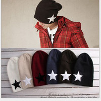 Wholesale Knitted hats fashion star cap wool cap Ear cap leisure hat Spring men s hats cotton caps