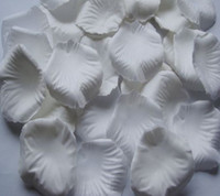 Wholesale MIC White Silk Rose Petals Wedding Flowers Favors Decoration Jewelry DIY