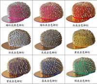 Wholesale 2013 Punk rivets hip hop snapbacks caps Baseball cap leisure hat caps snap backs hat
