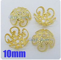 Wholesale MIC Gold Plated Five Flower Metal Filigree Bead Caps mm Finding New Jewelry DIY