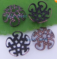 Wholesale MIC Antiqued Copper Plated Five Flower Filigree Spacers bead Caps mm Jewelry DIY