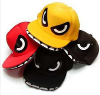 Wholesale Snapbacks caps hats shark mouth hip hop hat flat hat truck cap Cartoon cap design caps fashion hat