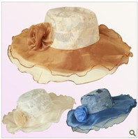 Wholesale retail new lady beach cap big eaves sunbonnet