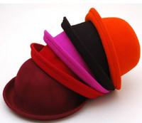 Wholesale Fitted caps Pure wool bowler hat jazz hat cap fashion cap round cap Topper hats caps cap