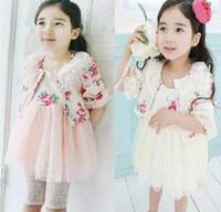 Cheap Wholesales 2014 new Baby, Kids Clothing Children's girl's cotton coat +skrits set suit NT-165