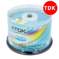 Wholesale TDK CD R Recordable Blank CD R X a pack high quality record disk MB MI