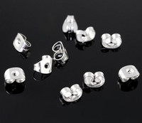 Wholesale 1000pcs mm High quality Stainless steel clasp amp hooks earring back jewelry accessories fit studs