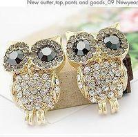 Women's earings - Pretty Owl Earrings Women Fashion Jewelry Cute Stud Earings CZ Female Pop Star Style New Nice Gift Cheap g