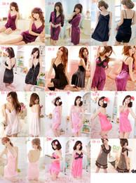 Wholesale HOT style women Sexy Sleepwear new underwear and sexy skirt night skirt nightgown lingerie