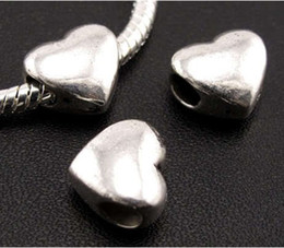 100pcs lot Tibetan Silver Smooth Big Hole Beads Fit European Charm Bracelet L1304 11.5x11x7.8 mm