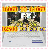 Wholesale 5PCS inch laptop with Windows XP system Intel Atom D2500 notebook GHz GB TO GB DDR GB